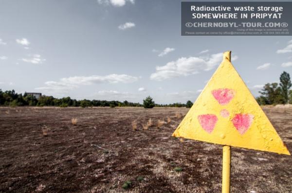 Radioactive waste storage.